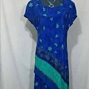 Vintage 100% Rayon Summertime Dress